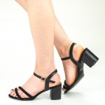 Sandale Dama cu Toc CS53 Black Mei