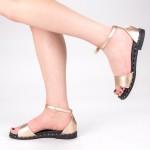 Sandale Dama cu Toc QZL233 Champagne Mei