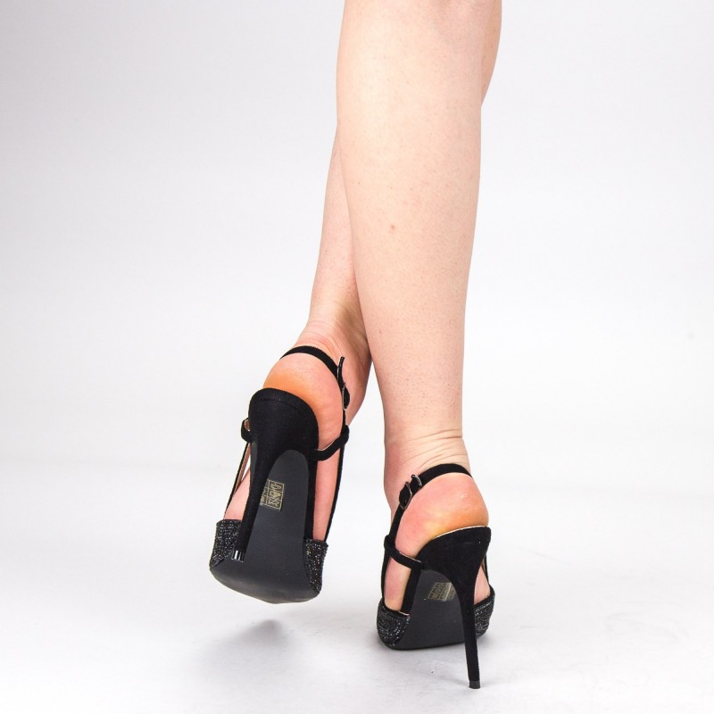 Pantofi Dama cu Toc KV18 Black Mei