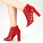Sandale Dama cu Toc KV10 Red Mei