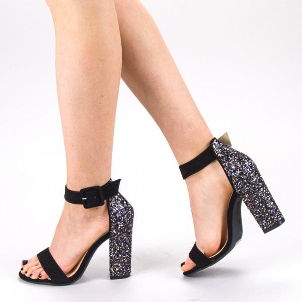 Sandale Dama cu Toc XKK161 Gold Mei