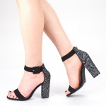 Sandale Dama cu Toc XKK161 Guncolor Mei