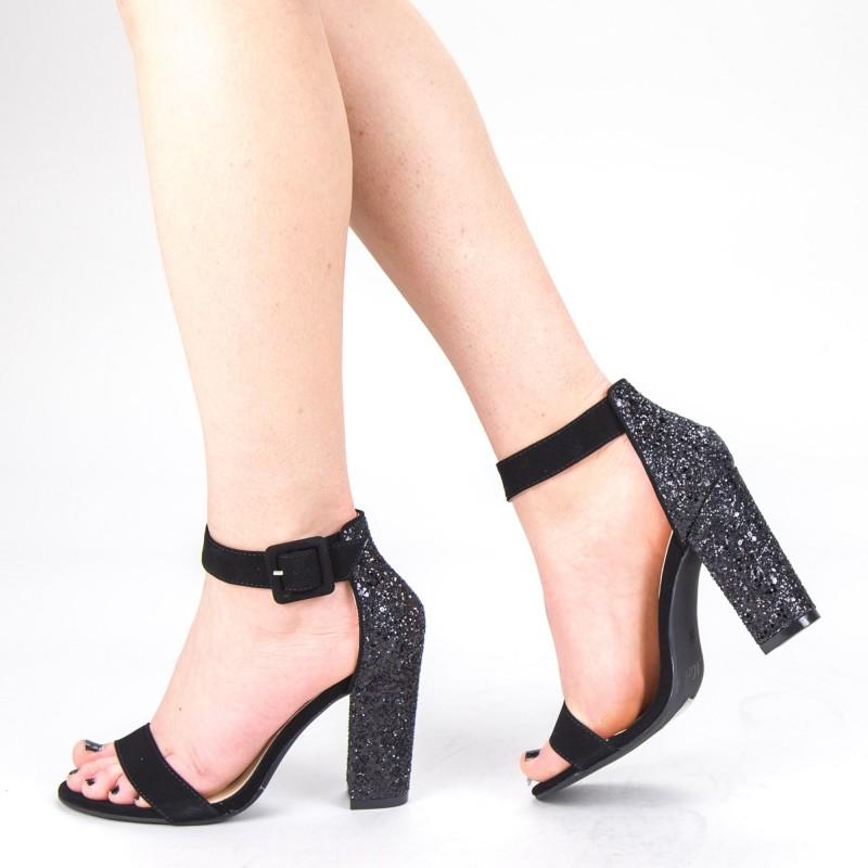 Sandale Dama cu Toc XKK161 Black Mei