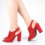 Sandale Dama cu Toc XKK159 Red Mei