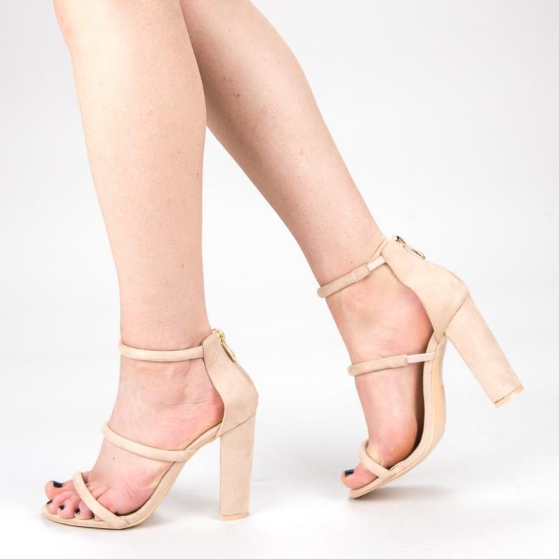 Sandale Dama cu Toc XKK153 Beige Mei