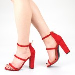 Sandale Dama cu Toc XKK153 Red Mei