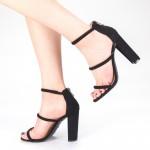 Sandale Dama cu Toc XKK153 Black Mei