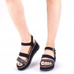 Sandale Dama cu Toc si Platforma LM256 Gold Mei
