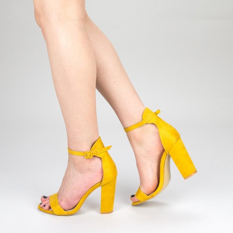 Sandale Dama cu Toc GE29 Yellow Mei