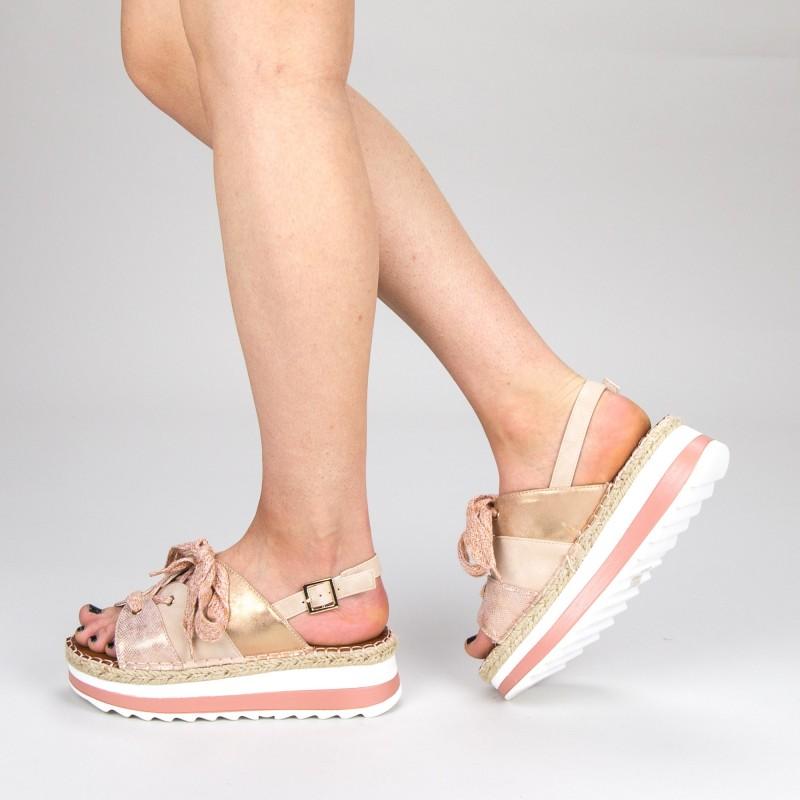 Sandale Dama cu Toc si Platforma GZXY3 Pink Mei