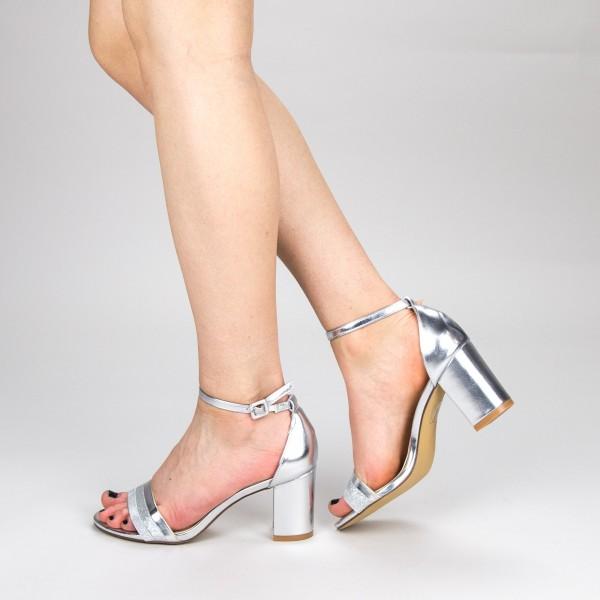 Sandale Dama cu Toc YFF3 Silver Mei
