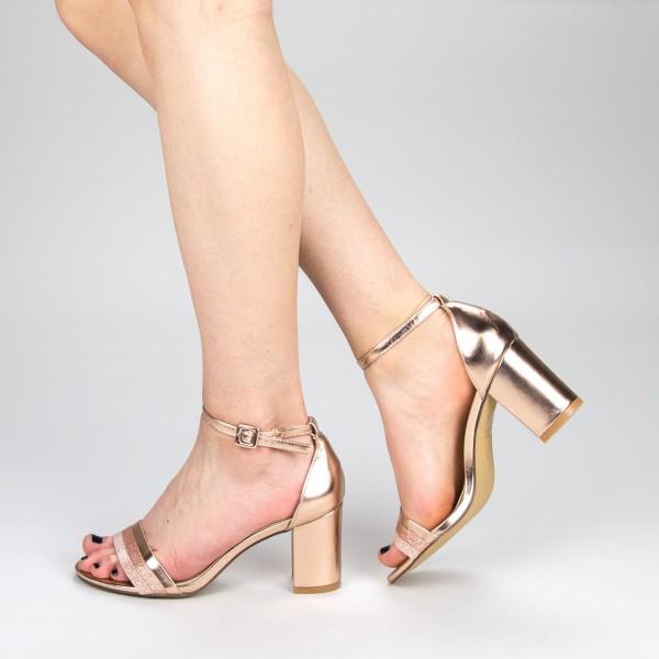 Sandale Dama cu Toc YFF3 Champagne Mei