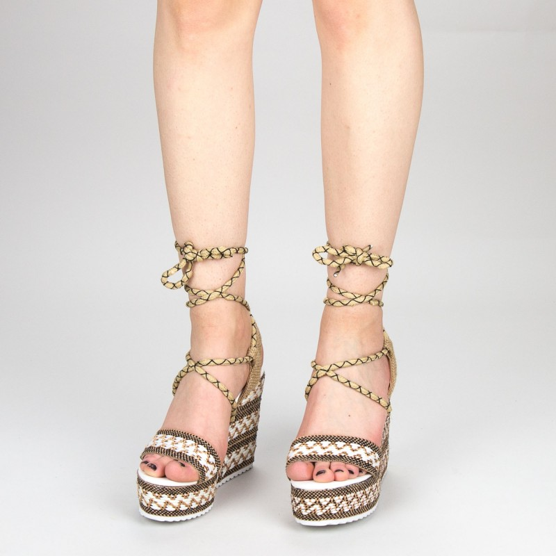 Sandale Dama cu Toc si Platforma FS8 Red Mei