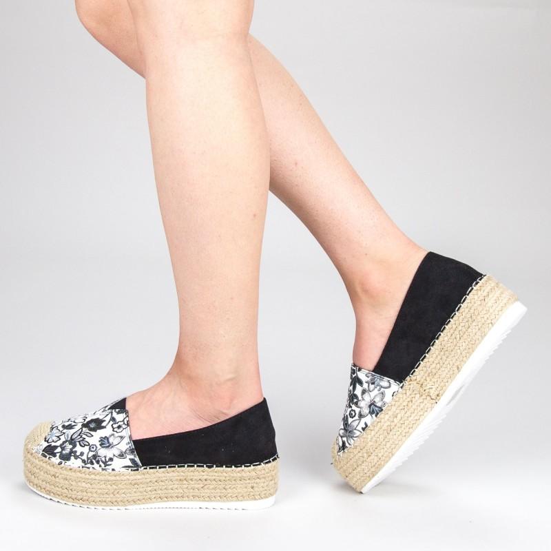 Pantofi Casual Dama cu Platforma FS6 Black Mei