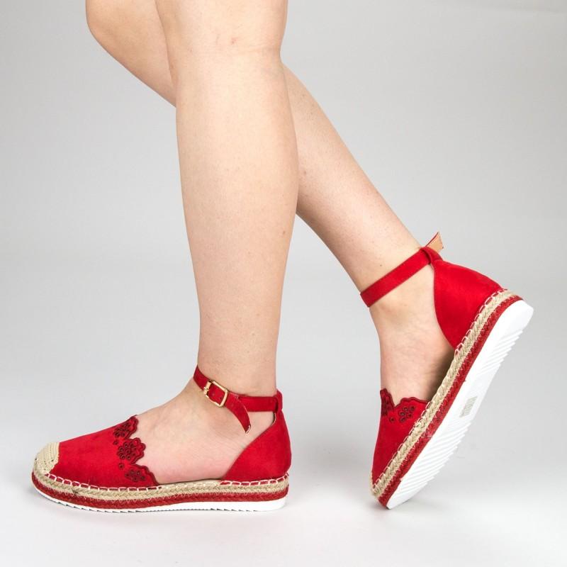 Pantofi Casual Dama cu Platforma FS5 Red Mei