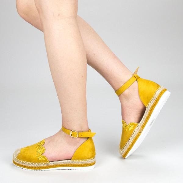 Pantofi Casual Dama cu Platforma FS5 Yellow Mei