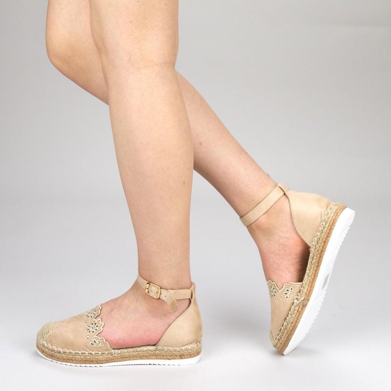 Pantofi Casual Dama cu Platforma FS5 Beige Mei