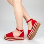 Pantofi Casual Dama cu Platforma FS3 Red Mei