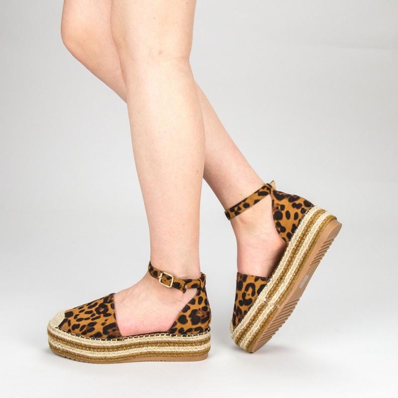 Pantofi Casual Dama cu Platforma FS3 Leopard Mei