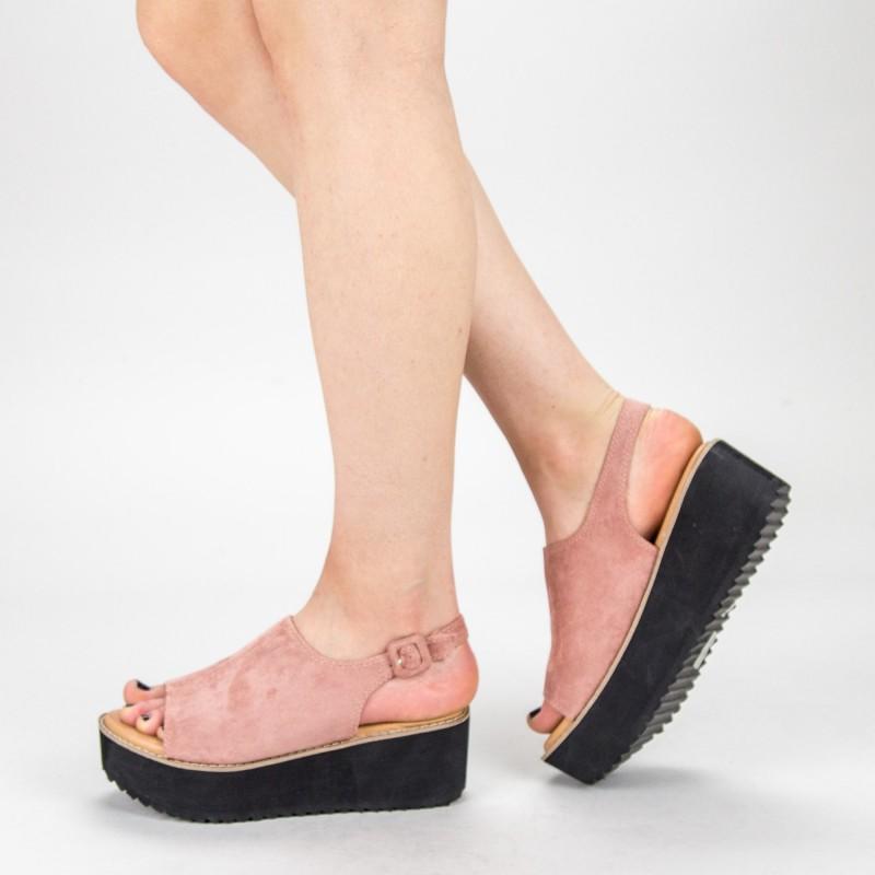 Sandale Dama cu Platforma 266-13 Pink Mulanka