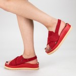 Sandale Dama cu Platforma G202 Red Mulanka
