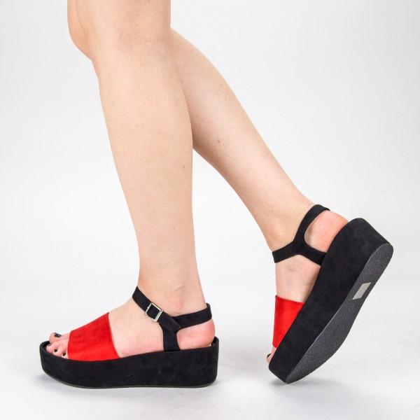 Sandale Dama cu Platforma 2017-19 Red Mulanka