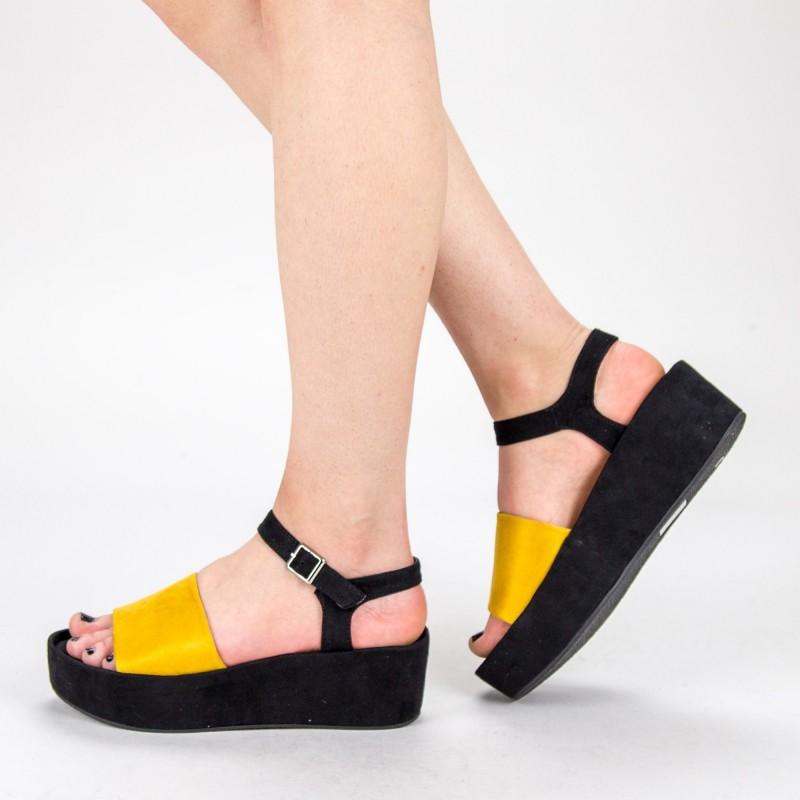Sandale Platforma Dama 2017 Cu 19 Yellow303Mulanka PwO8n0k