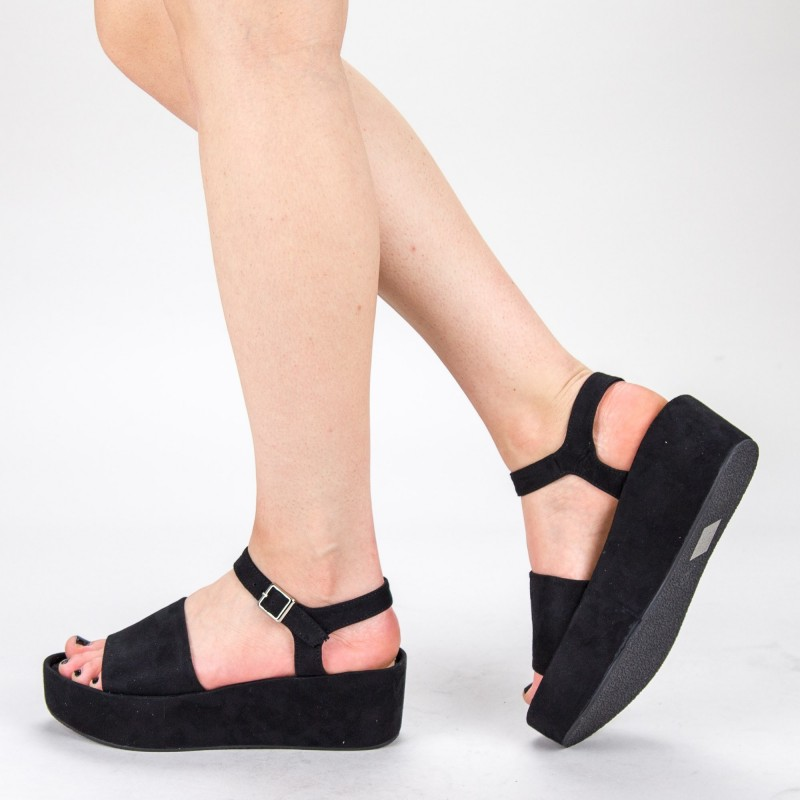 Sandale Dama cu Platforma 2017-19 Black Mulanka