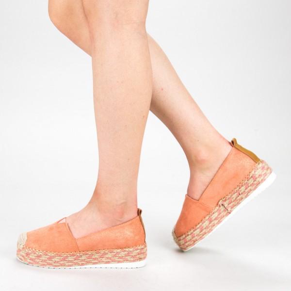 Pantofi Casual Dama cu Platforma BL00029 Pink Botinelli