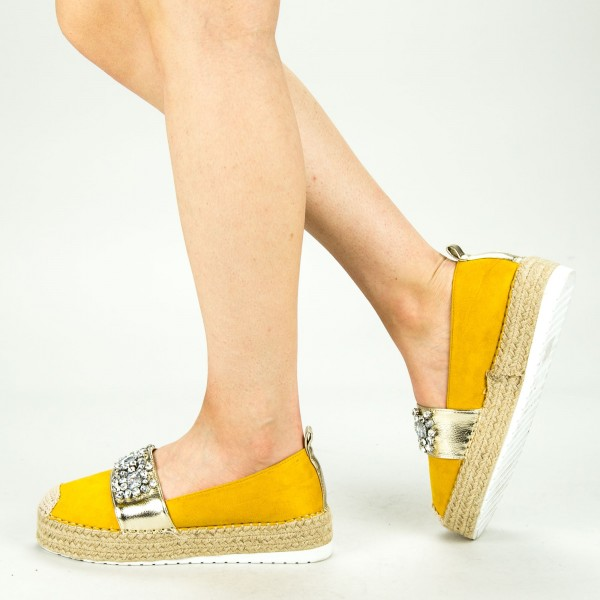 Pantofi Casual Dama cu Platforma BL0003 Yellow Botinelli