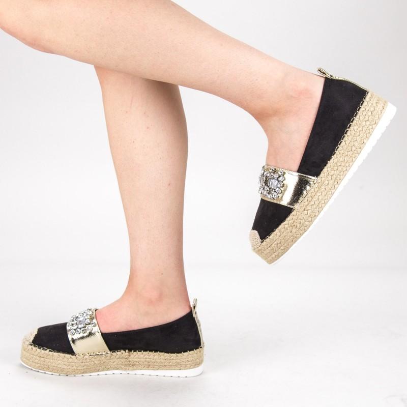 Pantofi Casual Dama cu Platforma BL0003 Black Botinelli