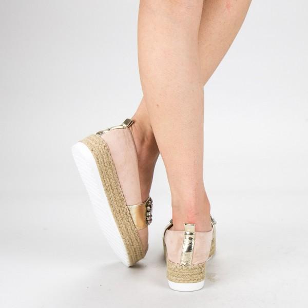 Pantofi Casual Dama cu Platforma BL0003 Beige Botinelli