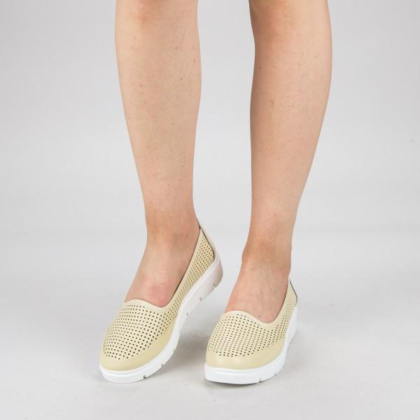Pantofi Casual Dama 65203-3 Beige Angel Blue