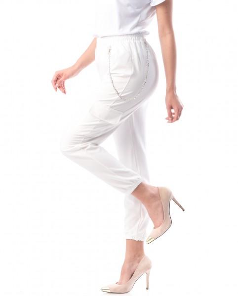 Pantaloni Dama 8159 Alb Adrom