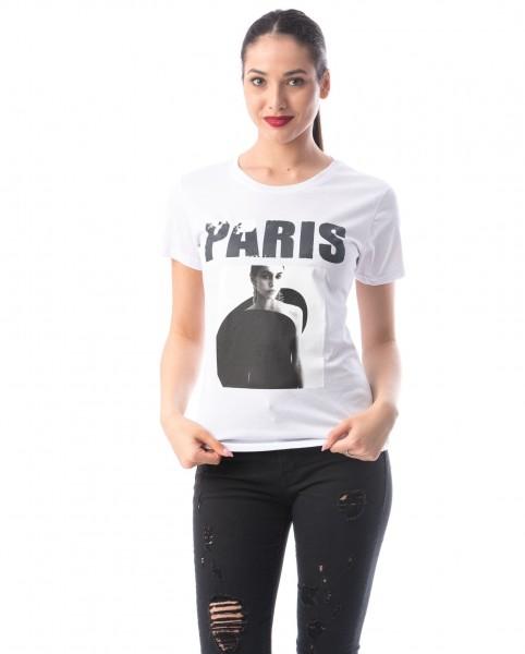 Tricou Dama 8127 PARIS Alb Adrom