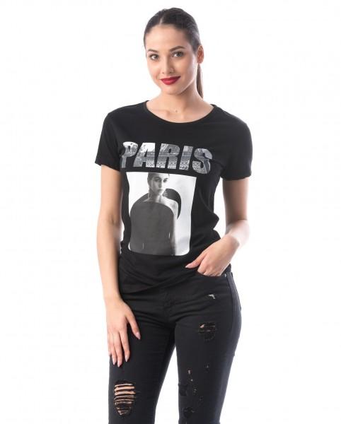 Tricou Dama 8127 PARIS Negru Adrom