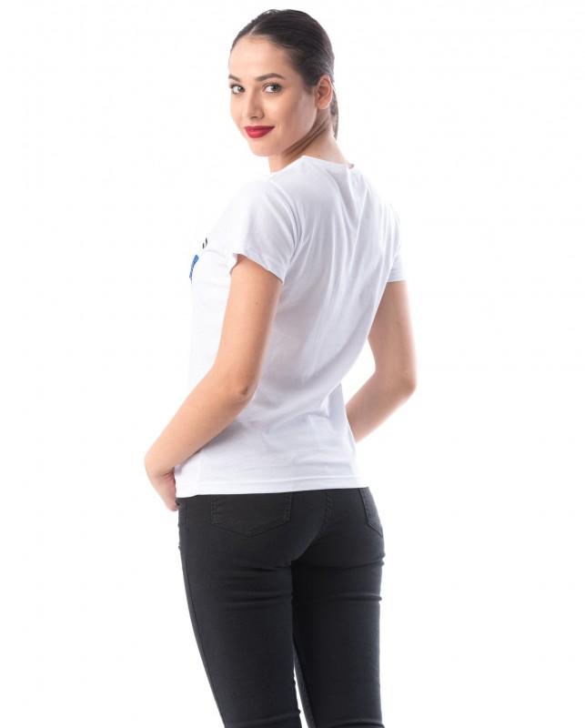 Tricou Dama 8051-3 LOVE Alb Adrom