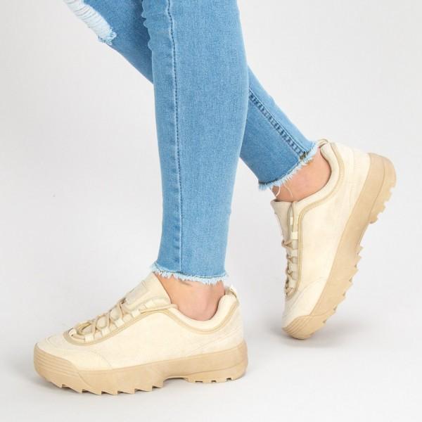 Pantofi Sport Dama B6837 Beige Sport Fashion