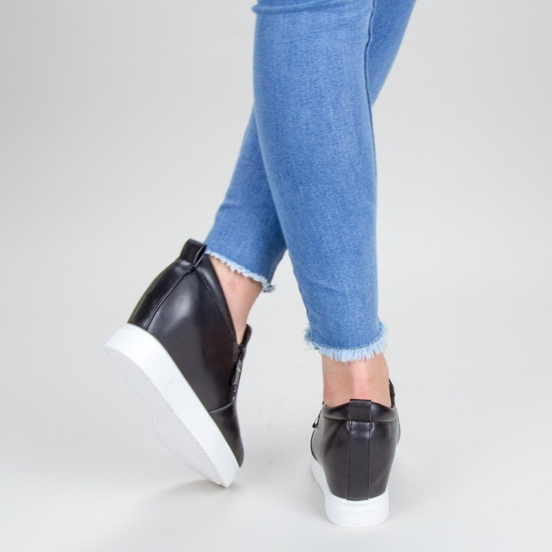 Pantofi Sport Dama cu Platforma 609 PSDP Black Sport Fashion