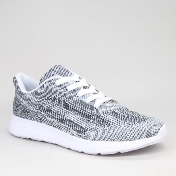 Pantofi Sport Barbati 31558-5 White-Grey Kiss Gogo