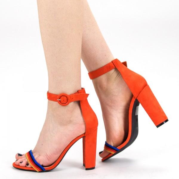 Sandale Dama cu Toc KV26 Red Mei