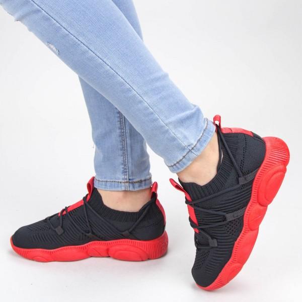 Pantofi Sport Dama YQ50 Black-red Mei