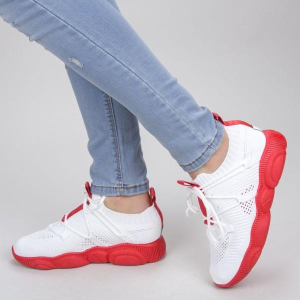 Pantofi Sport Dama YQ50 White-red Mei