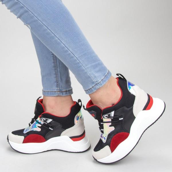 Pantofi Sport Dama SZ200 Black-red Mei