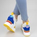 Pantofi Sport Dama SZ200 White-yellow Mei
