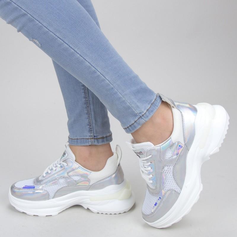 Pantofi Sport Dama SZ206 Silver Mei