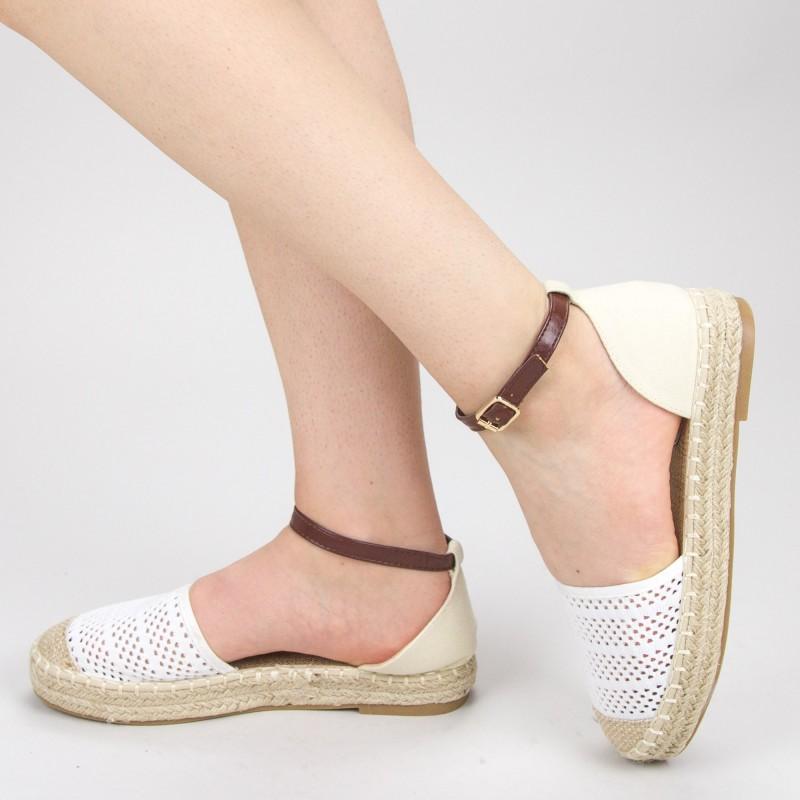 Pantofi Casual Dama QZL278 White Mei