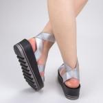 Sandale Dama cu Platforma CS26 Silver Mei