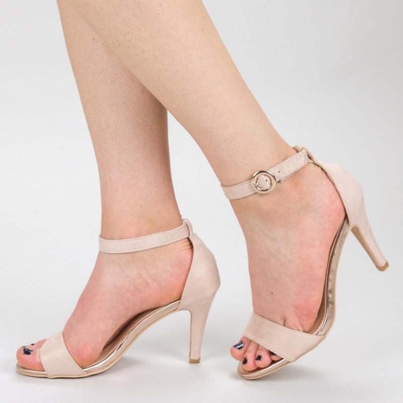 Sandale Dama cu Toc YBS38 Pink Mei