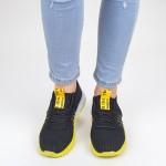 Pantofi Sport Dama YKQ70 Black-yellow Mei